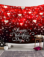 cheap -Valentine's Day Wall Tapestry Art Decor Blanket Curtain Hanging Home Bedroom Living Room Decoration Heart