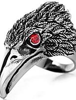 cheap -men's tribal stainless steel red eye biker eagle hawk band ring, size 11, men's biker hawk super fly ring, men women weddding engagement ring