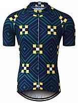 cheap -21Grams Men's Short Sleeve Cycling Jersey Dark Navy Bike Jersey Mountain Bike MTB Road Bike Cycling Breathable Sports Clothing Apparel / Athletic