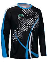cheap -21Grams Men's Long Sleeve Downhill Jersey Spandex Black Bike Jersey Mountain Bike MTB Road Bike Cycling UV Resistant Quick Dry Sports Clothing Apparel / Athletic