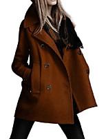 cheap -moonar women autumn/winter double breast long trench woolen outwear overcoat (x-large/us 14, tan)