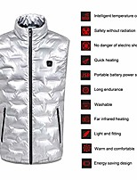 cheap -women's heated vest, usb charging 3 gear temperature control intelligent anti cold vest washable winter warm electric heated clothing for outdoor skiing camping hiking (silver)