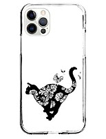 cheap -Lovely Cat Patterned Case For Apple iPhone 12 iPhone 11 iPhone 12 Pro Max Unique Design Protective Case Shockproof Back Cover TPU