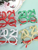 cheap -10 pcs christmas glowing glasses frame christmas hat tree snowman old man plastic glasses new year christmas gift decoration props
