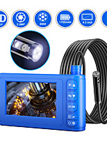 cheap -8 mm high-definition Camera 4.3-inch integrated screen dual-lens sewer electronic air-conditioning hard wire 10m with 32G TF card