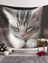 cheap -Wall Tapestry Art Decor Blanket Curtain Hanging Home Bedroom Living Room Decoration Polyester Cute Cat Pattern