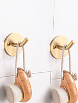 cheap -Robe Hook New Design / Adorable / Creative Contemporary / Modern Brass 2pcs - Bathroom / Hotel bath Wall Mounted
