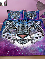 cheap -Snow Leopard Print 3-Piece Duvet Cover Set Hotel Bedding Sets Comforter Cover with Soft Lightweight Microfiber For Holiday Decoration(Include 1 Duvet Cover and 1or 2 Pillowcases)