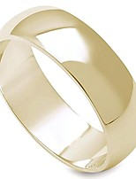 cheap -6mm stainless steel yellow gold plated high polished comfort fit traditional dome wedding ring (5)