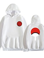 cheap -Inspired by Naruto Uchiha Itachi Cosplay Costume Hoodie Polyester / Cotton Blend Graphic Prints Printing Hoodie For Men's / Women's