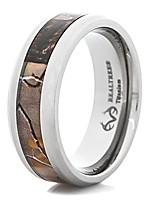 cheap -men's beveled edge titanium realtree ap camo wedding ring (8)