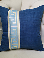 cheap -New Chinese Style Simplicity Thicken Cotton Linen Splicing Pillow Case Cover Living Room Bedroom Sofa Cushion Cover