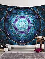 cheap -Wall Tapestry Art Deco Blanket Curtain Hanging Home Bedroom Living Room Dormitory Decoration Polyester Fiber Color Purple Blue Geometric Symmetrical Pattern Orchid Pavilion Design