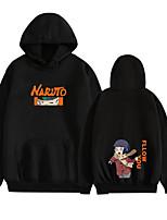 cheap -Inspired by Naruto Naruto Uzumaki Uchiha Sasuke Cosplay Costume Hoodie Polyester / Cotton Blend Graphic Prints Printing Hoodie For Men's / Women's