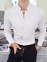 cheap -Tuxedos Standard Fit Mandarin Single Breasted Two-buttons Polyester Solid Colored