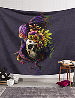 cheap -Wall Tapestry Art Decor Blanket Curtain Hanging Home Bedroom Living Room Decoration Polyester Fiber Still Life Strange Skull Flying Dragon Flower