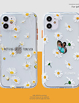 cheap -Case For Apple iPhone 12 / iPhone 11 / iPhone 12 Pro Max Shockproof Back Cover Butterfly / Cartoon / Flower TPU