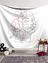 cheap -Sketch Wall Tapestry Art Decor Blanket Curtain Hanging Home Bedroom Living Room Decoration Abstract Flower Girl