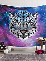 cheap -Wall Tapestry Art Deco Blanket Curtain Hanging Home Bedroom Living Room Dormitory Decoration Polyester Fiber Animal Painted Snow Leopard