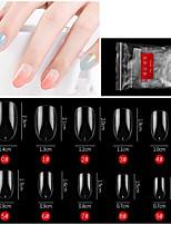 cheap -500PCS Short Oval Transparent Color Nail French Pointed Nail Seamless Nail Ballet Nail Transparent Nail Toe Nail Toe Nail Piece