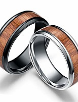 cheap -2 pcs men's titanium ring band, wedding ring with real wood inlay, 8mm comfort fit sizes 6 to 13 (7)