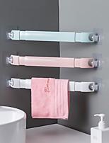 cheap -3PCS Retractable Towel Rack Rotatable Single Rod Free Punched Bathroom Towel Rack Towel Bar