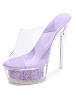 cheap -Women's Dance Shoes Pole Dancing Shoes Heel Slim High Heel White Black Purple Loafer Adults'