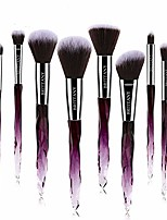 cheap -brush set - soft fibres for flawless application - blush, eyeshadow, powder applicators - beauty tools for makeup techniques - 10-piece kit & case (pink)