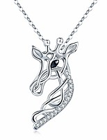 cheap -celtic knot necklace giraffe pendant 925 sterling silver giraffe animal head necklace giraffe jewelry gifts for women daughter graduation gift