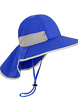 cheap -Boys' Girls' Hiking Cap 1 PCS Outdoor Windproof Breathable Ultraviolet Resistant Soft Hat Solid Color Polyester Taffeta Purple Fuchsia Blue for Climbing Beach Camping / Hiking / Caving