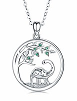 cheap -dinosaur necklace for women 925 sterling silver cute brontosaurus pendant necklace animal jewelry gifts for birthday aniversary