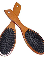 cheap -wooden boar bristle hair brush cushion paddle hairbrush for women, men, kids, styling hair brush and comb set for long, thick, fine, thin, short hair, add more shine and improve hair texture