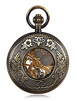 cheap -pocket watch antique mechanical pocket watch punk mechanical skeleton pocket watch with chain as valentine's day unisex simple retro mechanical watch pocket watch with chain