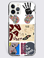 cheap -Patchwork Fashion Case For Apple iPhone 12 iPhone 11 iPhone 12 Pro Max Unique Design Protective Case Shockproof Back Cover TPU