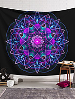 cheap -Wall Tapestry Art Decor Blanket Curtain Hanging Home Bedroom Living Room Decoration Polyester Fiber Colored Geometric Symmetrical Pattern Orchid Pavilion Design