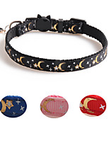 cheap -Dog Collar Adjustable Retractable Durable Outdoor Walking Stars Nylon Small Dog Black Red Blue Pink 1pc