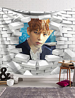 cheap -BTS Wall Tapestry Art Decor Blanket Curtain Hanging Home Bedroom Living Room Decoration Polyester Handsome Star Celebrity