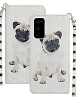 cheap -Case For Samsung Galaxy S20 Plus / S20 Ultra / S20 Shockproof Full Body Cases Animal PU Leather / TPU