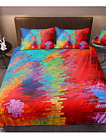cheap -Colorful Lines 3-Piece Duvet Cover Set Hotel Bedding Sets Comforter Cover with Soft Lightweight Microfiber, Include 1 Duvet Cover, 2 Pillowcases for Double/Queen/King(1 Pillowcase for Twin/Single)