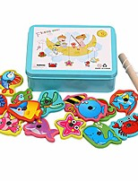 cheap -puzzle toy magnetic fishing catching bugs set, baby bath fun floating toys fishing game with cute fish and fishing rod blue