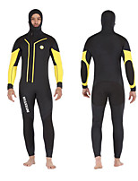cheap -DIVESTAR Men's Full Wetsuit 7mm CR Neoprene Diving Suit Quick Dry Long Sleeve Front Zip Patchwork Autumn / Fall Spring Summer