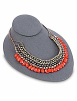 cheap -linen lay down necklace bust display jewelry display necklace chain jewelry bust display holder stand, dark gray linen
