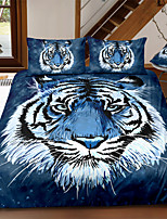 cheap -Tiger Print 3-Piece Duvet Cover Set Hotel Bedding Sets Comforter Cover with Soft Lightweight Microfiber For Holiday Decoration(Include 1 Duvet Cover and 1or 2 Pillowcases)