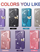 cheap -Case For Huawei P40 lite 5G / Nova 7 5G / nova 7 Pro 5G Card Holder / Shockproof / Embossed Full Body Cases Solid Colored PU Leather / TPU