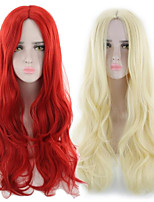 cheap -Synthetic Wig Curly Middle Part Wig Long Light golden Red Synthetic Hair Women's Fashionable Design Soft Red Blonde