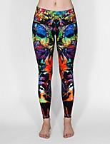 cheap -Women's Basic Yoga Comfort Daily Yoga Leggings Pants Color Block Calf-Length Print Black