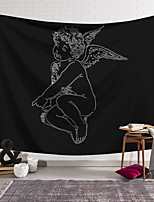 cheap -Valentine's Day Sketch Wall Tapestry Art Decor Blanket Curtain Hanging Home Bedroom Living Room Decoration Cupid