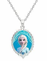 """cheap -frozen 2 elsa fine silver plated pendant necklace, 16 + 2"""" extender"""