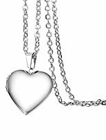 cheap -book love heart photo locket pendant necklace charm chain fashion jewelry 17.8""