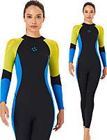 cheap -Dive&Sail Women's Full Wetsuit 3mm CR Neoprene Diving Suit Windproof Quick Dry Long Sleeve Back Zip Patchwork Autumn / Fall Spring Summer